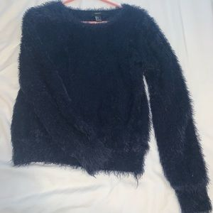 Navy fuzzy sweater